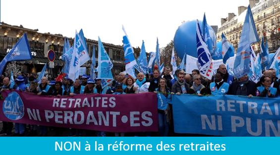 NON à la réforme des retraites