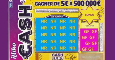 Ticket Jeu à gratter NR et GF à gagner